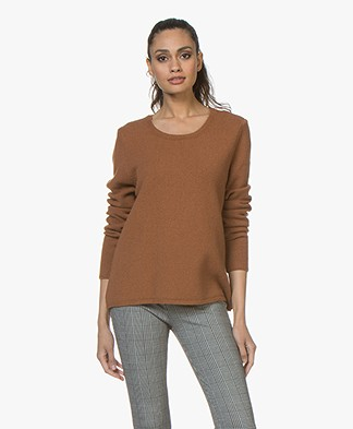 Sibin/Linnebjerg Melfi Sweater with Cashmere - Brown Sugar