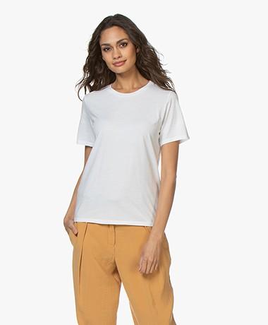 Majestic Filatures Ronde Hals T-shirt - Wit