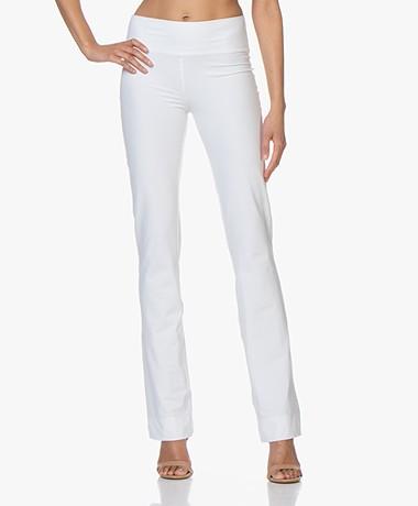 JapanTKY Zaya Flared Travel Jersey Pants - White