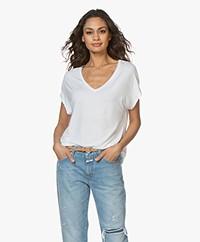 Majestic Filatures V-Neck Viscose T-Shirt - White