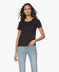 Majestic Filatures Fine Knit Cashmere T-Shirt - Marine