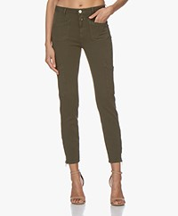 Closed Abby Slim-fit Jersey Broek - Shadow Green