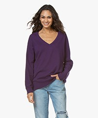 Closed V-neck Cashmere Sweater - Amethyst