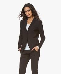 Josephine & Co Rachel Bonded Travel Jersey Blazer - Black