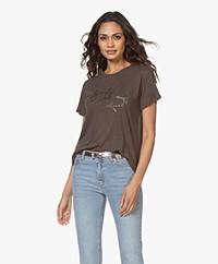 Zadig & Voltaire Azedi Strass Jormi T-shirt - Carbone