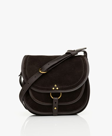 Jerome Dreyfuss Felix M Saddle Shoulder/Cross-body Bag - Moka