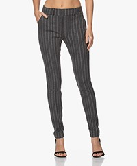 Josephine & Co Jim Jersey Pinstripe Pants - Grey