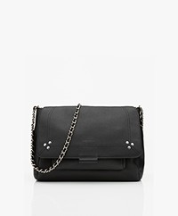 Jerome Dreyfuss Lulu M Leather Shoulder/Cross-body Bag - Black/Silver