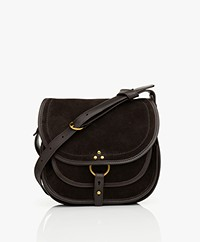 Jerome Dreyfuss Felix M Saddle Schouder/Cross-body Tas - Moka