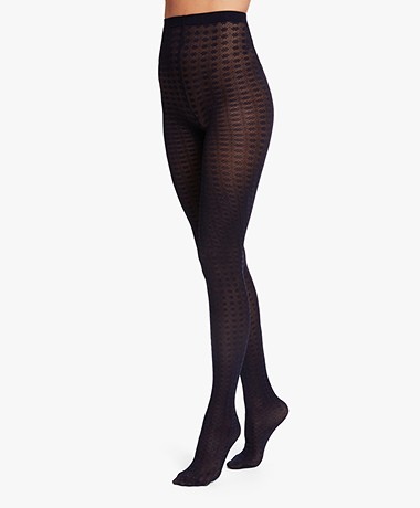 Wolford Clementia Tights - Navy Opal