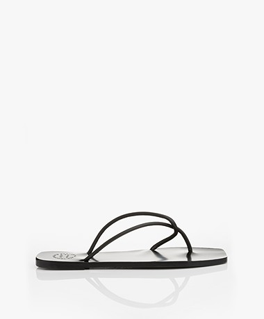 ATP Atelier Alessano Nappa Leather Sandals - Black