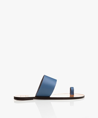 ATP Atelier Astrid Leather Toe Sandals - Sky Blue