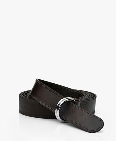 LaSalle Leather D-ring Wrap-around Belt - Choco