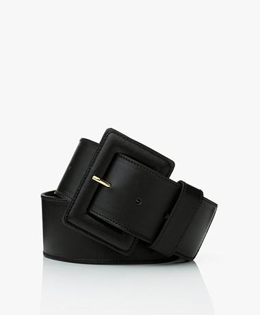 LaSalle Brede Leren Tailleriem - Zwart