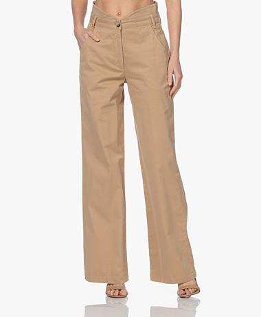 ba&sh Boy Stretch Cotton High-rise Pants - Beige