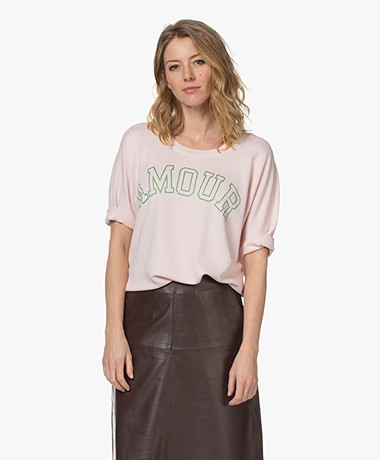 Zadig & Voltaire Portland Amour Print T-shirt - Rose