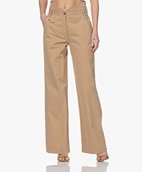 ba&sh Boy Stretch Cotton High-rise Pants - Beige