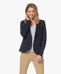 Repeat Tailored Jersey Blazer - Navy