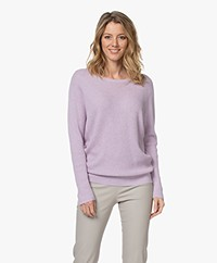 Repeat Cotton and Cashmere Sweater - Mauve