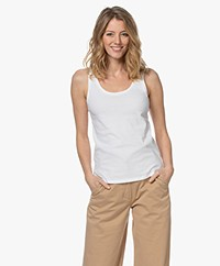 Majestic Filatures Deluxe Cotton Tank Top - White