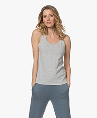 Majestic Filatures Jade Deluxe Cotton Tank Top - Light Grey Melange