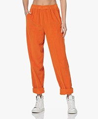 American Vintage Padow Loose-fit Corduroy Pants - Pumpkin