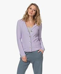 Belluna Eleven Moss Knitted Blazer - Lilac