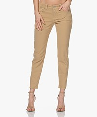 Closed Baker Mid-rise Slim-fit Twill Broek - Raffia