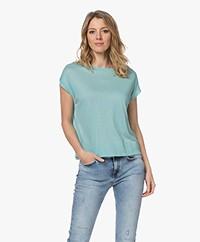 Drykorn Lakisha Lyocell Mix T-shirt - Turquoise