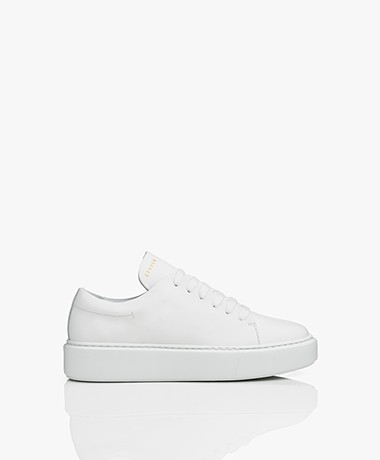 Copenhagen Leather Platform Sneakers - White