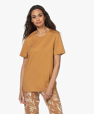 Joseph Katoenen T-shirt met Ronde Hals - Oak
