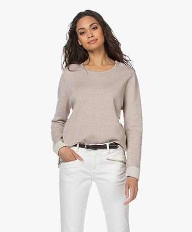 Sibin/Linnebjerg Beata Merino Blend Sweater - Light Sand/Kit