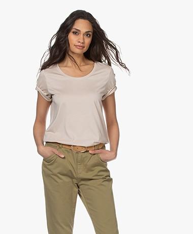 Repeat Jersey Lyocell Blend T-shirt - Beige