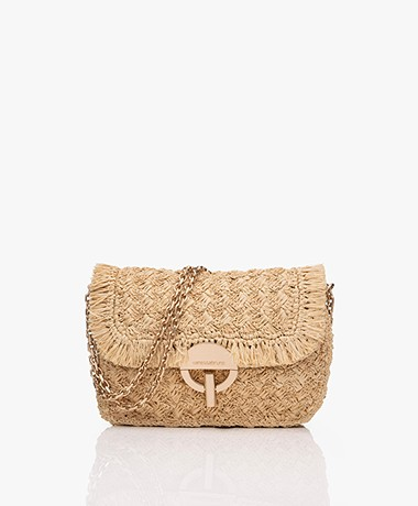 Vanessa Bruno Moon Raffia Shoulder Bag -  Naturel