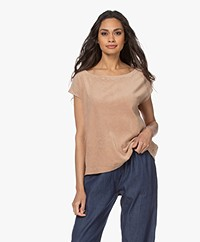 Majestic Filatures Terry Jersey Round Neck T-shirt - Ficelle