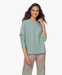Drykorn Maila Pure Cotton Sweater - Sage Green