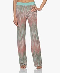 LaSalle Knitted Gradient Pants with Lurex  - Positano