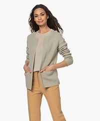 Sibin/Linnebjerg Lulu Short Cardigan - Light Sage