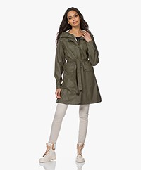 Ilse Jacobsen RAIN70 Mid Length Rain Coat - Army
