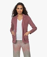 Majestic Filatures Garment Dyed Jersey Blazer - Blush