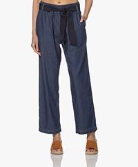 LaSalle Denim Look Pull-on Broek - Blauw