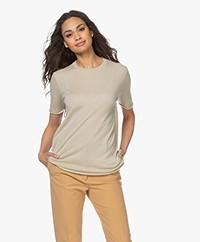 Joseph Cashair Knitted Cashmere T-shirt - Teal