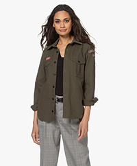 Zadig & Voltaire This Canvas Cotton Shirt - Khaki
