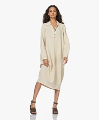 I Love Mr Mittens Knitted Cotton Polo Dress - Ivory