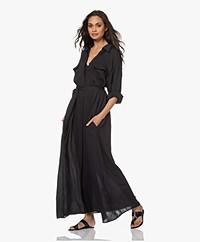 Su Paris Raya Crepe Chiffon Shirt Dress - Black