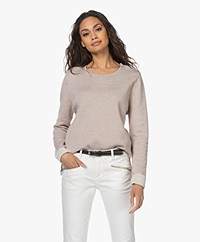 Sibin/Linnebjerg Beata Merino Blend Sweater - Light Sand/Kit