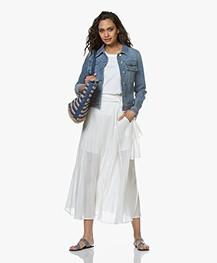 Filippa K Suzy Washed Denim Jacket - Mid Blue