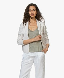 no man's land Garment-dyed Jersey Blazer - Linen