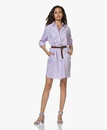 Repeat Cotton Poplin Shirt Dress - Lilac