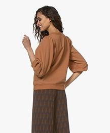 Ragdoll LA Puff Sleeve Sweatshirt - Rust
